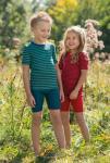 Kinder-Unterhemd mit kurzem Arm 152 | rot/orchidee