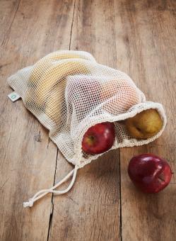 Waschsack, Obst- und Gemüsenetz, 2er Pack