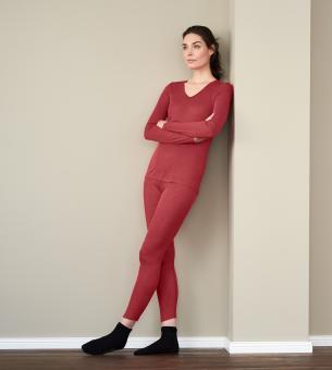 Damen-Hemd mit langem Arm 40/42   schwarz