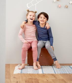 Kinder-Unterhemden mit langem Arm