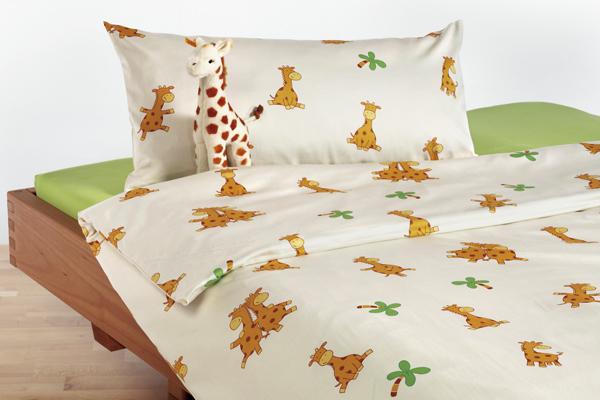 bio wohli kinderbettw sche biber giraffe. Black Bedroom Furniture Sets. Home Design Ideas